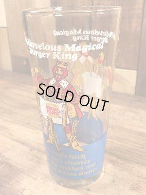 Burger Kingの王様とメッセージが書かれた70'sヴィンテージガラスコップ