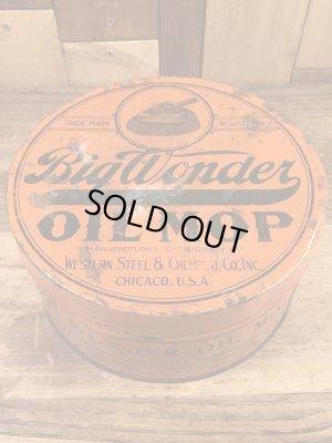 Big Wonderのオイルモップが入っていた20〜30年代ビンテージブリキ缶