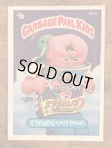 """Topps Garbage Pail Kids """"Upside Down Donald"""" Sticker Card 184a ガーベッジペイルキッズ ビンテージ ステッカーカード 80年代"""