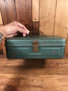 他の写真3: Metallic Green Small Metal Tool Box ツールボックス ビンテージ 工具箱 50〜60年代