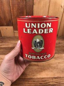 他の写真3: Union Leader Smoking Tobacco Tin Can ユニオンリーダー ビンテージ ブリキ缶 タバコ缶 50年代