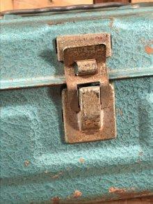 他の写真2: Metallic Green Small Metal Tool Box ツールボックス ビンテージ 工具箱 50〜60年代