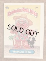 """Topps Garbage Pail Kids """"Wrinkled Rita"""" Sticker Card 78a ガーベッジペイルキッズ ビンテージ ステッカーカード 80年代"""