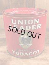 Union Leader Smoking Tobacco Tin Can ユニオンリーダー ビンテージ ブリキ缶 タバコ缶 50年代