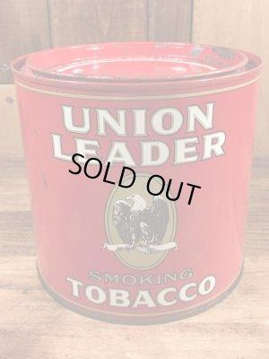 Union Leaderのタバコが入っていた50年代ビンテージブリキ缶