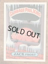 """Topps Garbage Pail Kids """"Jack Frost"""" Sticker Card 372a ガーベッジペイルキッズ ビンテージ ステッカーカード 80年代"""