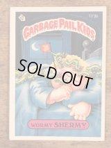 "Topps Garbage Pail Kids ""Wormy Shermy"" Sticker Card 173b ガーベッジペイルキッズ ビンテージ ステッカーカード 80年代"