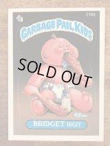 "Topps Garbage Pail Kids ""Bridget Digit"" Sticker Card 218b ガーベッジペイルキッズ ビンテージ ステッカーカード 80年代"
