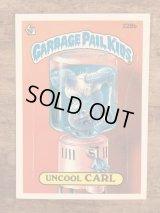 "Topps Garbage Pail Kids ""Uncool Carl"" Sticker Card 228b ガーベッジペイルキッズ ビンテージ ステッカーカード 80年代"