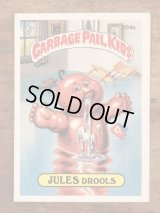 """Topps Garbage Pail Kids """"Jules Drools"""" Sticker Card 204a ガーベッジペイルキッズ ビンテージ ステッカーカード 80年代"""