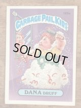 "Topps Garbage Pail Kids ""Dana Druff"" Sticker Card 165a ガーベッジペイルキッズ ビンテージ ステッカーカード 80年代"