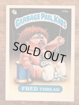 """Topps Garbage Pail Kids """"Fred Thread"""" Sticker Card 174a ガーベッジペイルキッズ ビンテージ ステッカーカード 80年代"""