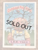 """Topps Garbage Pail Kids """"Lee Tree"""" Sticker Card 243a ガーベッジペイルキッズ ビンテージ ステッカーカード 80年代"""