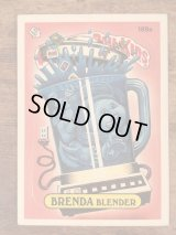 "Topps Garbage Pail Kids ""Brenda Blender"" Sticker Card 189a ガーベッジペイルキッズ ビンテージ ステッカーカード 80年代"