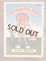 "Topps Garbage Pail Kids ""Coy Roy"" Sticker Card 211b ガーベッジペイルキッズ ビンテージ ステッカーカード 80年代"