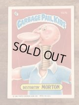 "Topps Garbage Pail Kids ""Distortin' Morton"" Sticker Card 157b ガーベッジペイルキッズ ビンテージ ステッカーカード 80年代"