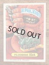 "Topps Garbage Pail Kids ""Fluoride Ida"" Sticker Card 367b ガーベッジペイルキッズ ビンテージ ステッカーカード 80年代"