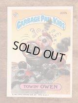 "Topps Garbage Pail Kids ""Towin' Owen"" Sticker Card 237b ガーベッジペイルキッズ ビンテージ ステッカーカード 80年代"