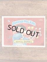 "Topps Garbage Pail Kids ""Dental Daniel"" Sticker Card 200b ガーベッジペイルキッズ ビンテージ ステッカーカード 80年代"