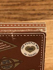 """他の写真2: Universal Match Travelodge """"Sleepy Bear"""" Matchbook スリーピーベア ビンテージ マッチブック トラベロッジ 50~60年代"""