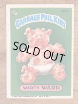 "Topps Garbage Pail Kids ""Warty Ward"" Sticker Card 220b ガーベッジペイルキッズ ビンテージ ステッカーカード 80年代"