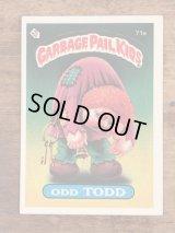 "Topps Garbage Pail Kids ""Odd Todd"" Sticker Card 71a ガーベッジペイルキッズ ビンテージ ステッカーカード 80年代"