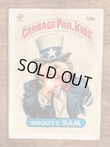 "Topps Garbage Pail Kids ""Snooty Sam"" Sticker Card 110a ガーベッジペイルキッズ ビンテージ ステッカーカード 80年代"