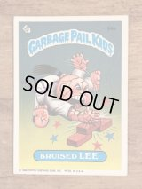 """Topps Garbage Pail Kids """"Bruised Lee"""" Sticker Card 94a ガーベッジペイルキッズ ビンテージ ステッカーカード 80年代"""