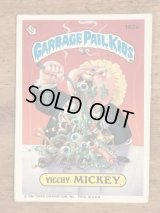 """Topps Garbage Pail Kids """"Yicchy Mickey"""" Sticker Card 162a ガーベッジペイルキッズ ビンテージ ステッカーカード 80年代"""
