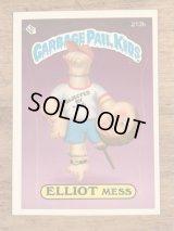 "Topps Garbage Pail Kids ""Elliot Mess"" Sticker Card 213b ガーベッジペイルキッズ ビンテージ ステッカーカード 80年代"