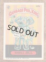 "Topps Garbage Pail Kids ""Shrill Jill"" Sticker Card 221b ガーベッジペイルキッズ ビンテージ ステッカーカード 80年代"