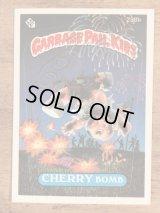 "Topps Garbage Pail Kids ""Cherry Bomb"" Sticker Card 238b ガーベッジペイルキッズ ビンテージ ステッカーカード 80年代"