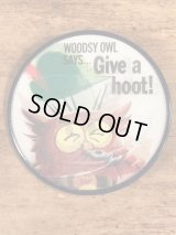 "Woodsy Owl ""Says Give A Hoot! Don't Pollute!"" Lenticular Badge ウッジーオウル ビンテージ バッジ レンチキュラー 60〜70年代"