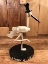 "New York Nightclub ""Stork Club"" Wood Mascot Figurine ストーククラブ ビンテージ ディスプレイフィギュア 40〜50年代"
