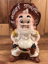 "The Nugget Sparks, Nev ""Nugget Sam"" Ceramic Figural Vase ナゲットサム ビンテージ 花瓶 陶器 60〜70年代"