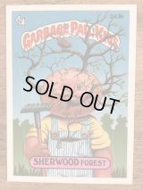 "Topps Garbage Pail Kids ""Sherwood Forest"" Sticker Card 243b ガーベッジペイルキッズ ビンテージ ステッカーカード 80年代"