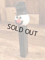 """Snowman"" No Feet Pez Dispenser スノーマン ビンテージ ペッツ 足無し 雪だるま 70年代"