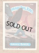 "Topps Garbage Pail Kids ""Small Saul"" Sticker Card 216b ガーベッジペイルキッズ ビンテージ ステッカーカード 80年代"