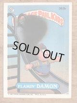 "Topps Garbage Pail Kids ""Flamin' Damon"" Sticker Card 363b ガーベッジペイルキッズ ビンテージ ステッカーカード 80年代"
