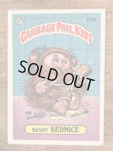 "Topps Garbage Pail Kids ""Bushy Bernice"" Sticker Card 150b ガーベッジペイルキッズ ビンテージ ステッカーカード 80年代"