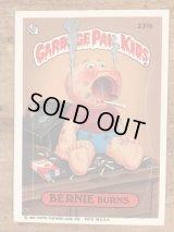 "Topps Garbage Pail Kids ""Bernie Burns"" Sticker Card 231b ガーベッジペイルキッズ ビンテージ ステッカーカード 80年代"