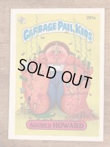 "Topps Garbage Pail Kids ""Soured Howard"" Sticker Card 281a ガーベッジペイルキッズ ビンテージ ステッカーカード 80年代"