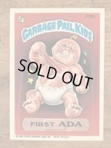 "Topps Garbage Pail Kids ""First Ada"" Sticker Card 210b ガーベッジペイルキッズ ビンテージ ステッカーカード 80年代"