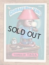 "Topps Garbage Pail Kids ""Turned-On Tara"" Sticker Card 148a ガーベッジペイルキッズ ビンテージ ステッカーカード 80年代"