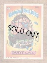 "Topps Garbage Pail Kids ""Burt Cage"" Sticker Card 234b ガーベッジペイルキッズ ビンテージ ステッカーカード 80年代"