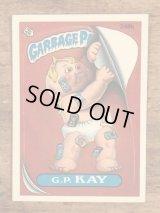 "Topps Garbage Pail Kids ""G.P.Kay"" Sticker Card 248b ガーベッジペイルキッズ ビンテージ ステッカーカード 80年代"