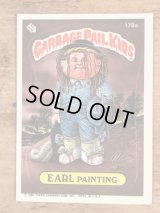 """Topps Garbage Pail Kids """"Earl Painting"""" Sticker Card 178a ガーベッジペイルキッズ ビンテージ ステッカーカード 80年代"""
