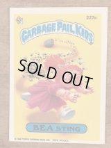 "Topps Garbage Pail Kids ""Bea Sting"" Sticker Card 227a ガーベッジペイルキッズ ビンテージ ステッカーカード 80年代"