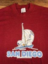 "Peanuts Snoopy ""San Diego"" T-Shirt スヌーピー ビンテージ Tシャツ 古着 80年代"