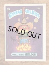 "Topps Garbage Pail Kids ""Well Done Sheldon"" Sticker Card 115b ガーベッジペイルキッズ ビンテージ ステッカーカード 80年代"